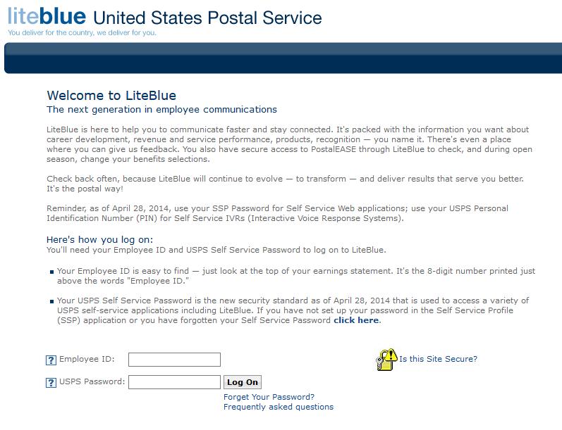 Liteblue Login at WWW LiteBlue usps gov Employee Login Portal